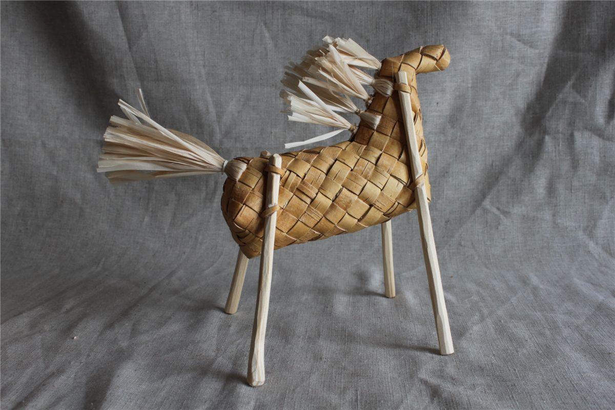 Лошадь своими руками из бересты